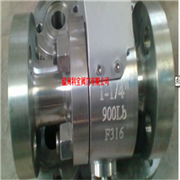 供应Q41F-800LB SS316锻钢三段式法兰球阀