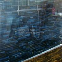 天然蓝虎眼石板材用于墙面、地面、台面装饰