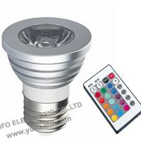供应LED射灯3W RGB