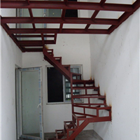 青岛楼梯钢结构隔层网点楼梯厂房隔断消防楼梯