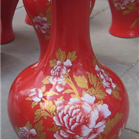 供应陶瓷花瓶,高品质红瓷花瓶