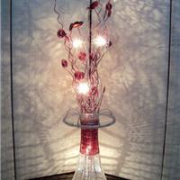 厂家供应手工编织LED铝线落地灯