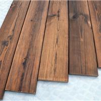 美国花旗松炭化木地板户外地板 阳台露台