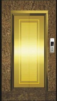 供应彩色不锈钢电梯门