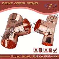 供应铜水管三通 铜管焊接铜三通紫铜配件