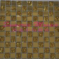 供应马赛克镜面瓷砖墙贴金镜地中海风格拼图