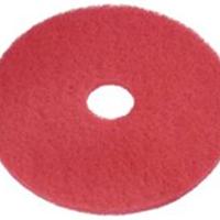供应17寸红色地板清洁垫 洗地垫厂家