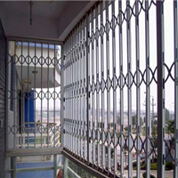 长沙拉闸防盗门窗 折叠防盗门窗 推拉门窗