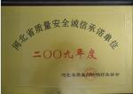 2009年度河北省质量安全诚信承诺单位