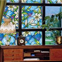 玻璃贴厂家供应 凡菲欧式彩色窗花玻璃贴