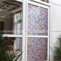 厂家直销 彩色玻璃装饰贴膜 无胶静电玻璃贴