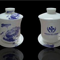 供应陶瓷茶杯、庆典礼品杯-logo杯子订做