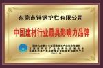 中国建材行业最具影响力品牌