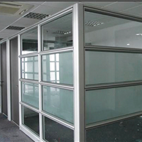 供应临沂铝合金办公玻璃隔断 双玻百叶隔断