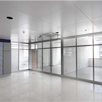 枣庄滕州铝合金办公玻璃隔断 双波百叶隔断