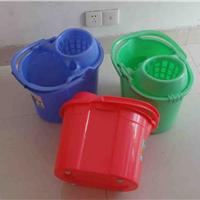 豪华塑料带轮拖把拧水桶