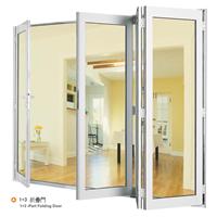 室内铝合金玻璃折叠门