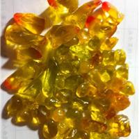 壁炉装饰专用的桔色多面体形琉璃/水晶石