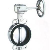 供应FS038不锈钢涡轮对夹蝶阀