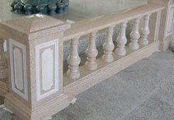 供应黄砂岩宝瓶柱护栏、黄金麻宝瓶护栏