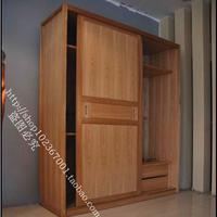 上海纯实木家具俄罗斯榆木厂家直销移门衣柜