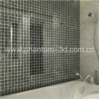 供应星级酒店卫浴墙面装饰材料―立体玻璃