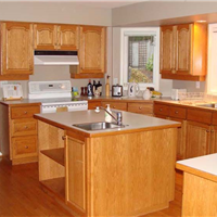 供应开放式厨房专用木质华丽整体橱柜