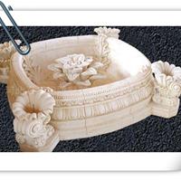 供应订购制作石雕花盆,花钵,汉白玉洗水盆