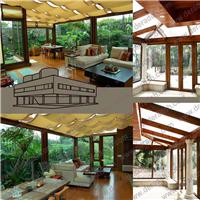 供应上海生产高档铝木复合阳光房