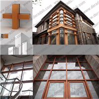 供应上海生产纯木幕墙 高档豪华铝木幕墙