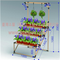 Pipe flower plant shelf �}合管花架