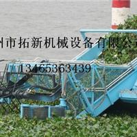 拓新打捞船清理水面垃圾、打捞水面漂浮物