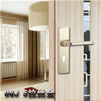HDW拉丝金室内门锁 卧室房门锁 欧式不锈钢