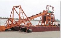 溜槽式铁沙船订做 旱地筛沙 大型抽沙船价格