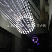 三菱光纤、光纤灯、光纤吊灯、光纤水晶灯