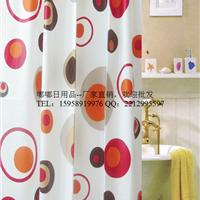 现代风格半透明防水防霉瑞士品质送浴帘钩