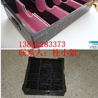 供应昆山防静电中空板箱,黑色抗静电周转箱