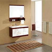 供应实木现代浴室柜报价|佛山浴室柜厂家