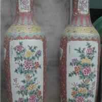 供应粉彩山水花鸟大花瓶