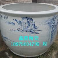 供应陶瓷大缸,青花花鸟大缸
