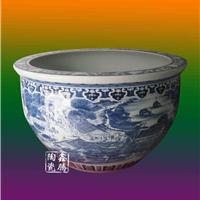 供应青花瓷大缸,手绘青花山水大缸