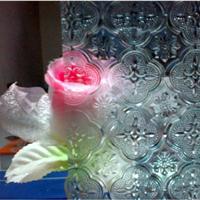 供应3-6mm各种花型透明压延玻璃
