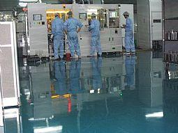 供应滨州半导体车间环氧树脂滚涂防静电地坪