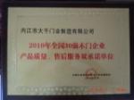 2010全国30强木门企业
