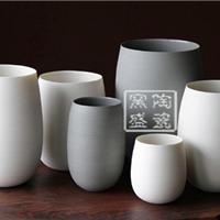 供应陶艺花瓶定做手工花瓶酒店摆设瓷