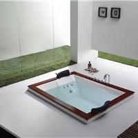 供应按摩冲浪双人浴缸1.8米厂家直销一套起订水疗浴缸别墅浴缸