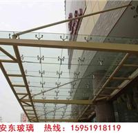 夹胶玻璃/玻璃雨棚/钢结构玻璃雨棚