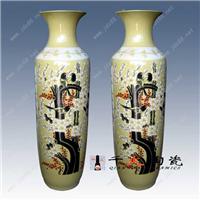 陶瓷大花瓶 供应黄釉陶瓷大花瓶