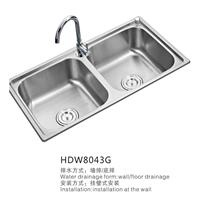 HDW 水槽 不锈钢 双槽 厨房洗菜盆