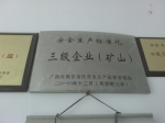 安全生产标准化三级企业(矿山)